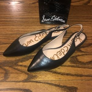 NWT Sam Edelman Rays Black Dress Napa Flats